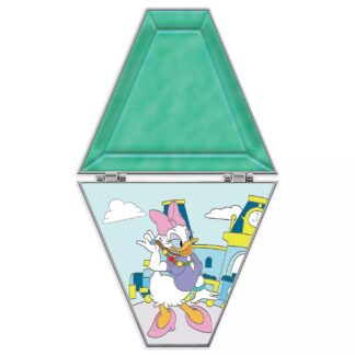 Daisy Duck Countdown Pin Limited Edition 20th Anniversary Front Open Stock Photo