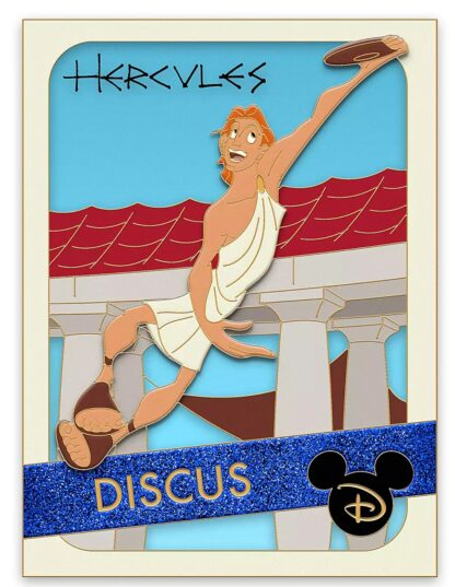Disney Hercules Discus Pin Trading Cards Series Limited Edition New Stock Photo