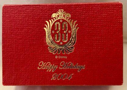 Disney Club 33 Ornament Christmas 2004 New Topm Of Box