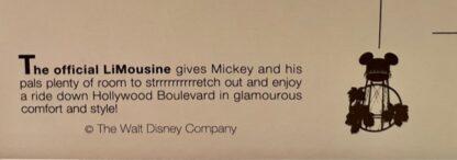 Disney Mickey LiMouseine Postcard Closeup 2