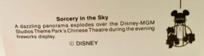 Disney Mickey Sorcery Postcard New Back Closeup 1