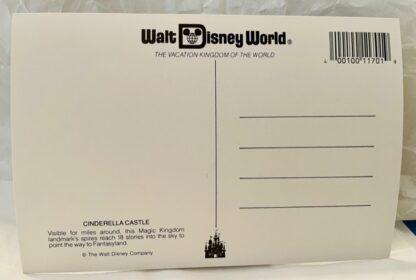 WDW Cinderella Castle Postcard MK New Back