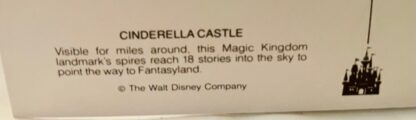 WDW Cinderella Castle Postcard MK New Back Closeup Bottom