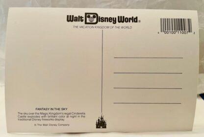 WDW Fantasy Sky Postcard MK New Back