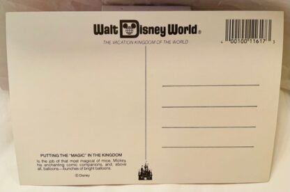 WDW Magic MK Postcard New Back