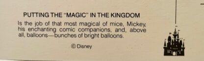 WDW Magic MK Postcard New Back Closeup 2
