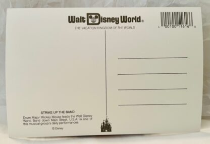 WDW Mickey Band Postcard MK New Back
