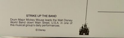 WDW Mickey Band Postcard MK New Back Closeup Bottom