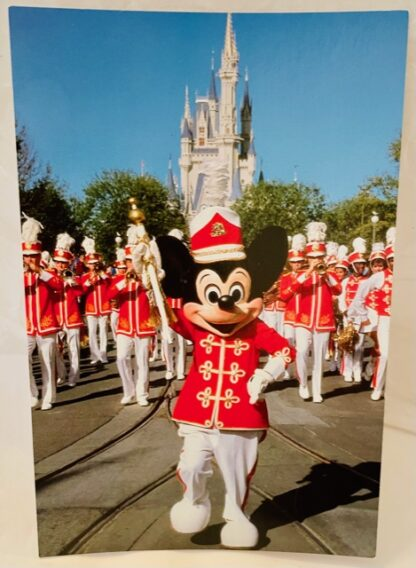 WDW Mickey Band Postcard MK New Front