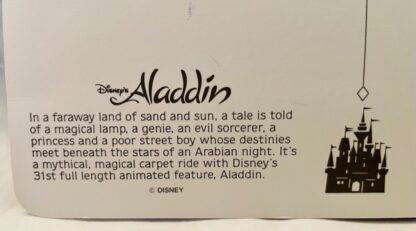 Disney Aladdin Jumbo Postcard New Back Closeup Bottom