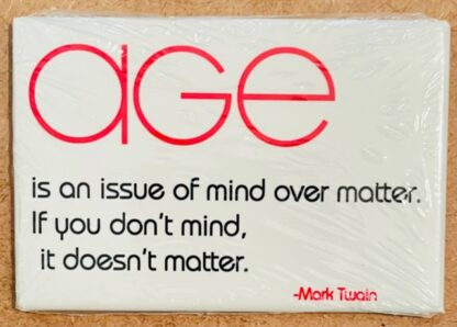 Mark Twain Quote Magnet New AGE is an issue... Front
