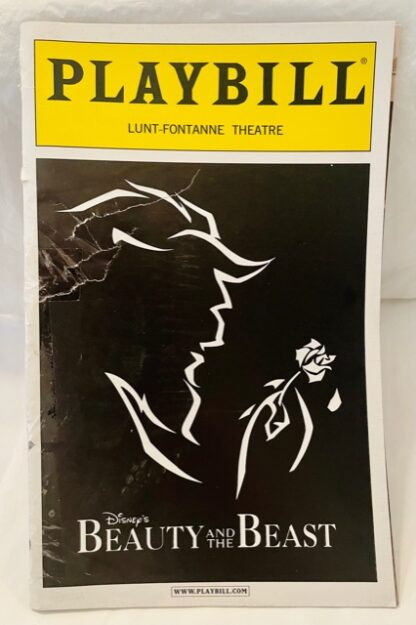 Playbill Beauty Beast 2002 Gently Used Front