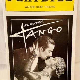 Playbill Forever Tango Black & White Cover 1997 Gently Used Front