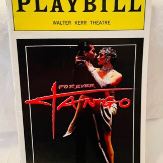 Playbill Forever Tango Color Cover 1997 Gently Used Front