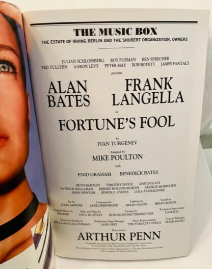 Playbill Fortune's Fool 2002 Gently Used Cast