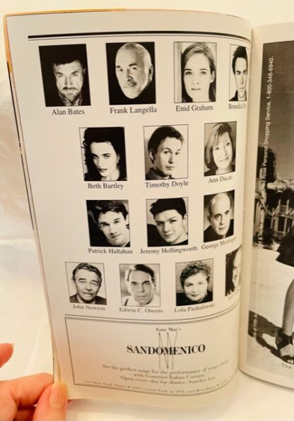 Playbill Fortune's Fool 2002 Gently Used Cast Photos