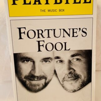 Playbill Fortune's Fool 2002 Gently Used Front