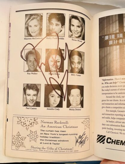 Playbill Grease Autographed 1994 Gently Used Cast Photos Mimi Hines Autograph