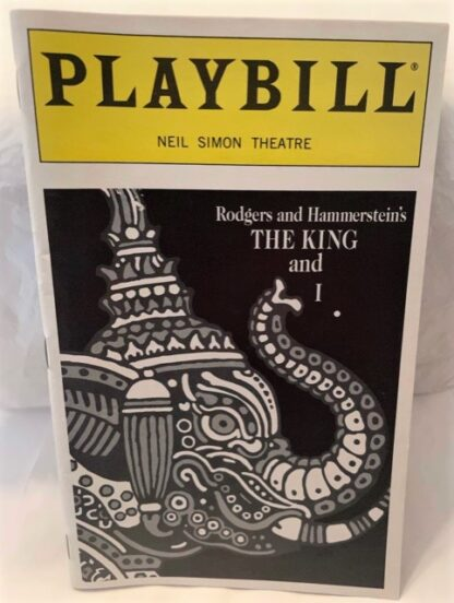 Playbill King and I 1997 Gently Used Front
