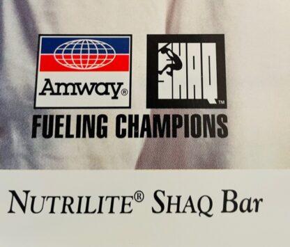 Shaq Bar Amway Brochure 1995 New Closeup Amway & Shaq Logos