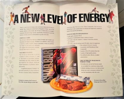 Shaq Bar Amway Brochure 1995 New Inside