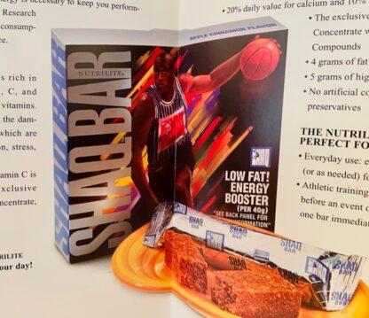 Shaq Bar Amway Brochure 1995 New Inside Closeup Shaq Bar Box