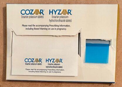 Cozaar Hyzaar Tape Flags Dispenser + Sticky Notes Front