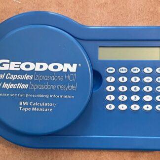Pfizer Geodon BMI Calculator & Tape Measure New Front