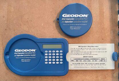 Pfizer Geodon BMI Calculator & Tape Measure New Open Tape Measure Detached