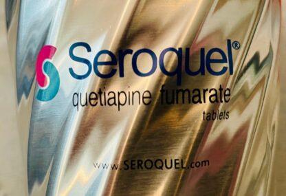 Seroquel Logo Travel Mug Stainless Steel New Front Logo Closeup
