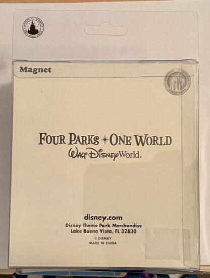 Sorcerer Mickey Jumbo Magnet Disney New Back