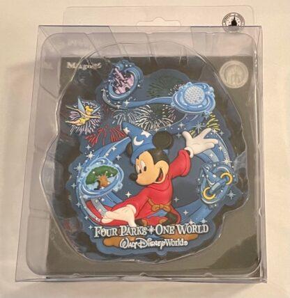 Sorcerer Mickey Jumbo Magnet Disney New Front