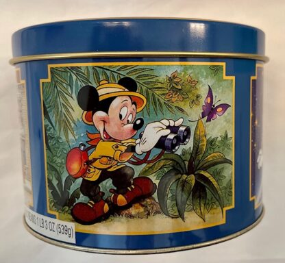 Disney WDW Mickey Tin Vintage Gently Used 2nd Panel Mickey On Safari In Adventureland