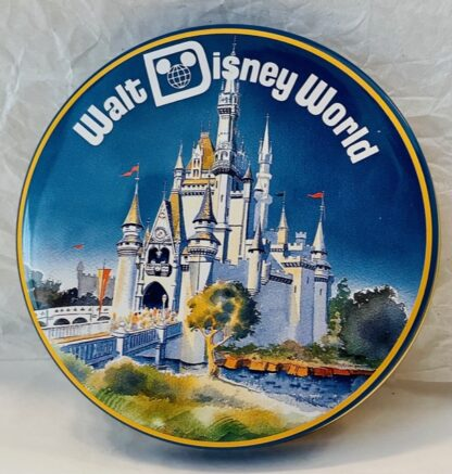 Disney WDW Mickey Tin Vintage Gently Used Outside of Lid